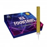 Ice Fountains with Gold Foil Wrap, Box of 36