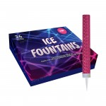 Ice Fountains with Pink Foil Wrap, Box of 36