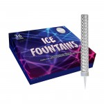 Ice Fountains with Silver Foil Wrap, Box of 36