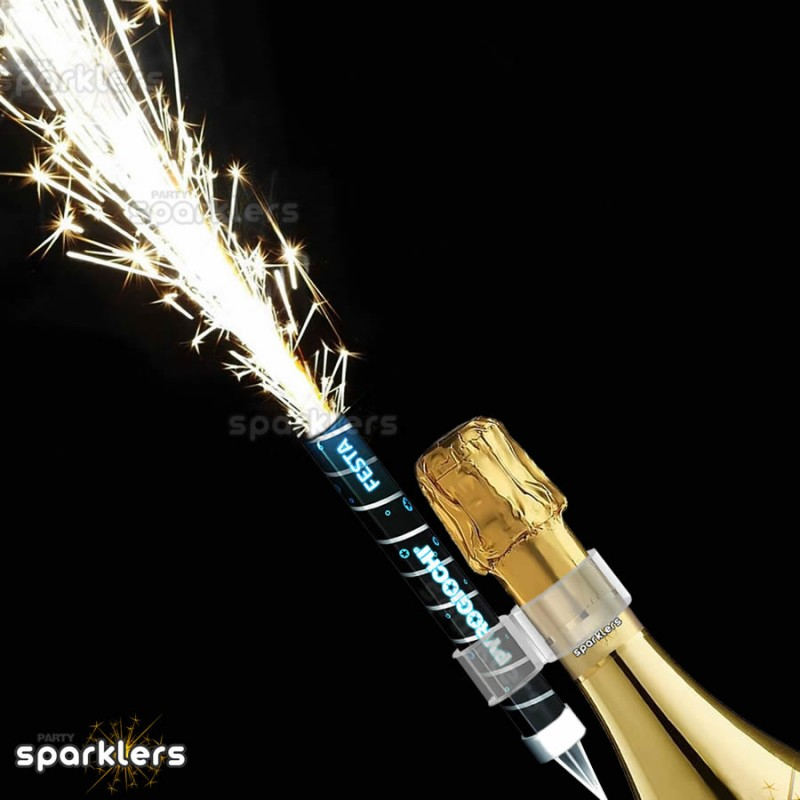 Prosecco Party Flaming Fountain with bottle clip